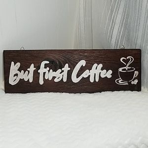 Wooden handpainted sign